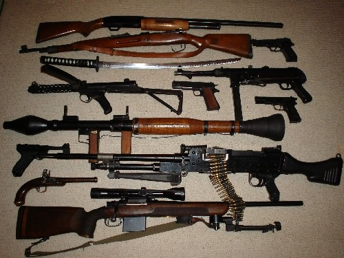 selection of small arms